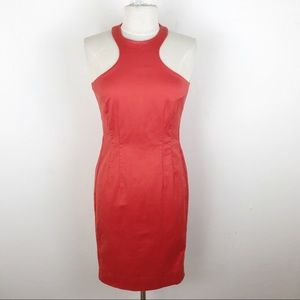 Jay Godfrey Orange High Neck Mini Cocktail Dress 6